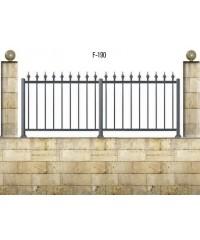 Gard din aluminiu F-190