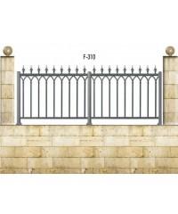 Gard din aluminiu F-310